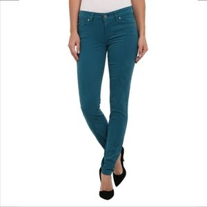 Paige Verdugo Ultra Skinny Deep Turquoise Size 29.